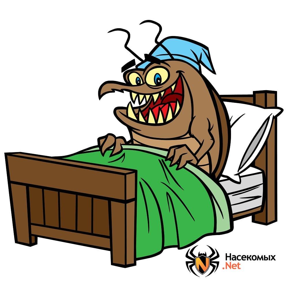 Блоха на кровати